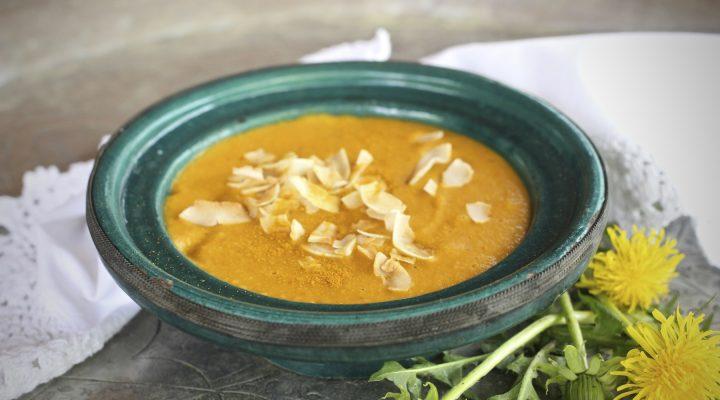 Marokkolainen porkkana-linssikeitto annos