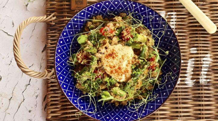 kananpoika kvinoa ruoka-annos